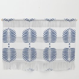 TROPICAL PALMS . WHITE + BLUE Wall Hanging