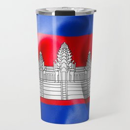 Cambodia Flag Travel Mug