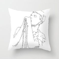 Ian Curtis WordsPortrait Throw Pillow