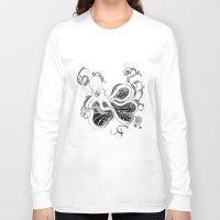 kraken Long Sleeve T-shirts featuring 'Kraken' by emily sams