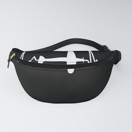 Airplane Heartbeat Pilot Airport Jet Fanny Pack