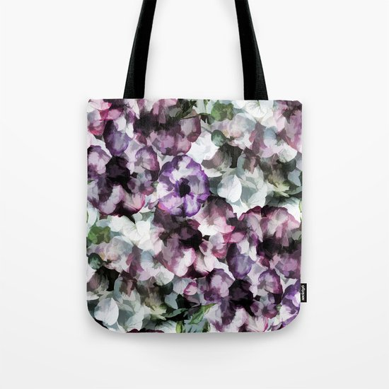 Vintage Floral Abstract Tote Bag