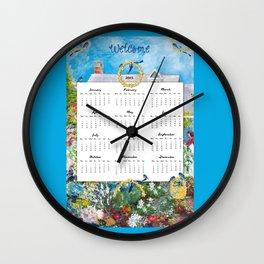 Welcome 2015 Calendar Wall Clock