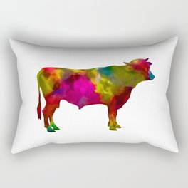Colorful cow Rectangular Pillow