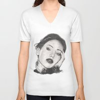 jennifer lawrence V-neck T-shirts featuring jennifer lawrence by als3