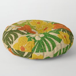 Limahuli Garden Hawaiian Floral Design Floor Pillow