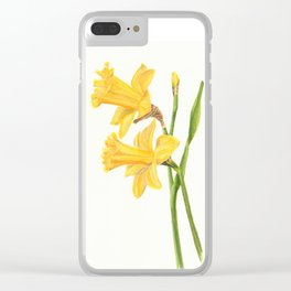Early Daffodils Clear iPhone Case