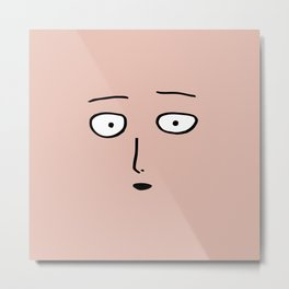 One Punch Man Saitama Face Metal Print