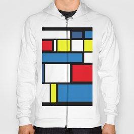 Mondrian Style Geometric Mosaic Pattern Hoody
