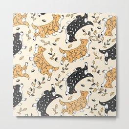 Cute corgis Metal Print