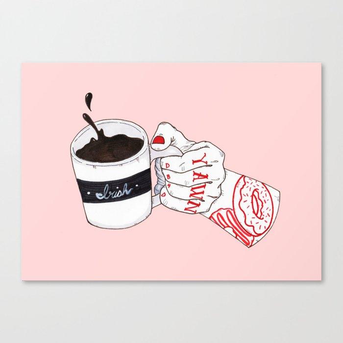 Death b4 Decaf Canvas Print