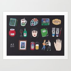 Objects Art Print