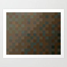 ABSTRACT PIXELS #0010 Art Print