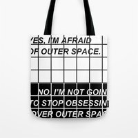 outer space Tote Bags featuring //OUTER SPACE// by cutiepie9ccr