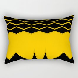 Black and Yellow geometric background #society6 #decor #buyart #artprint Rectangular Pillow