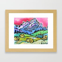 The Grand From Walton Ranch Framed Art Print