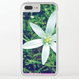 FlowerPower #9 Clear iPhone Case