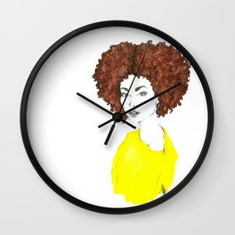 Yellow shirt Wall Clock