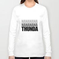 acdc Long Sleeve T-shirts featuring Thunda! by A Little Leafy