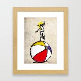 off balance Framed Art Print