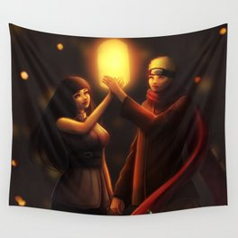 NaruHina Lanterns Wall Tapestry