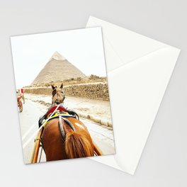 Horse ride to the pyramids Stationery Cards