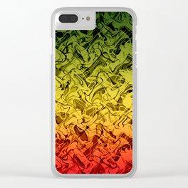 Rasta Fire Clear iPhone Case