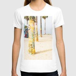 Venice Beach California Graffiti Palm Trees T-shirt