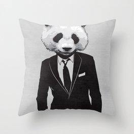 Panda Suit Throw Pillow
