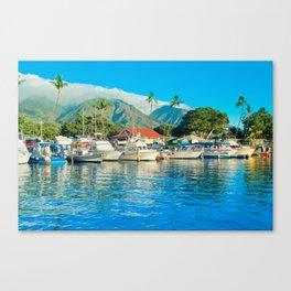 Lāhainā Marina Sunset Maui Hawaii Canvas Print