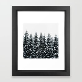 The White Bunch Framed Art Print