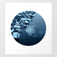 Telescope 10 ice  Art Print
