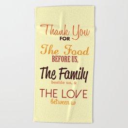 Thanksgiving Grace | Fall Colors Beach Towel