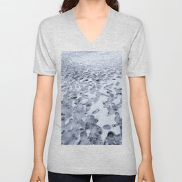 Footprints in the Melting Snow at Whistler Unisex V-Neck
