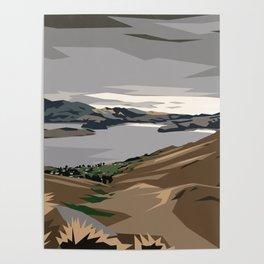 Cass Bay, New Zealand Poster