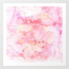 Marble Sunrise Art Print