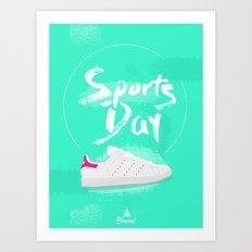 Sport's Day Art Print