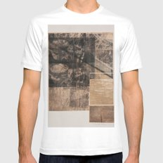 WOOD/PAPER White Mens Fitted Tee MEDIUM