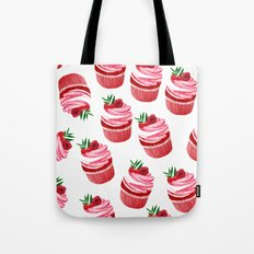 Red velvet cupcakes pattern Tote Bag