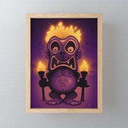 Tiki Munkee Framed Mini Art Print