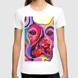 Doberman Pinscher Close Up Bright Colors T-shirt