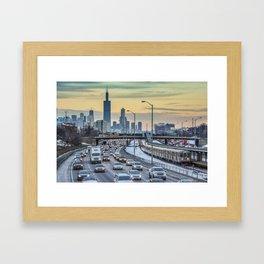 Rush Hour Sunset Framed Art Print