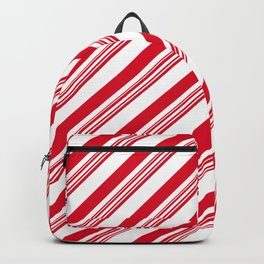 Red Candy Cane Stripes Backpack
