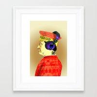 federico babina Framed Art Prints featuring Federico da Montefeltre is cool by AnnaFox