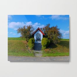 Wayside shrine in summertime II | architectural photography Metal Print