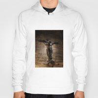 christ Hoodies featuring Jesus Christ by Villads Andersen