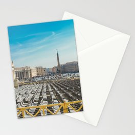 Ready for Mass at the Vatican, St. Paul's Basilicia, Italy Stationery Cards