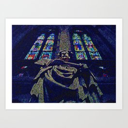 Working with Stained Glass Art Print
