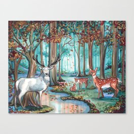 The White Stag Canvas Print