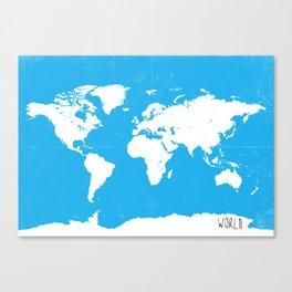 World map Travel B ocean Canvas Print